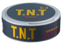 G.3 T.N.T Slim White Dry Super Strong Snus