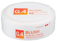 G.4 Blush Slim All White Portion Snus