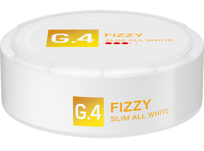 G.4 Fizzy Slim All White Portion Snus