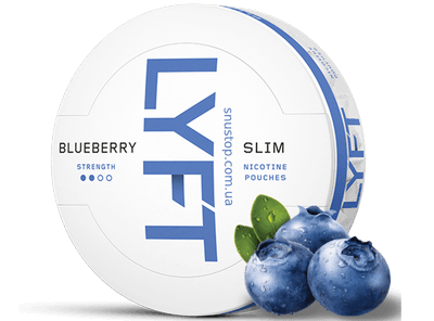 LYFT Blueberry Slim All White Snus
