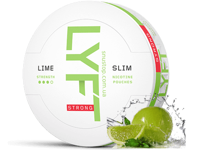 LYFT Strong Lime Slim All White snus