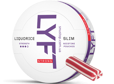 LYFT Strong Licorice Slim All White Snus