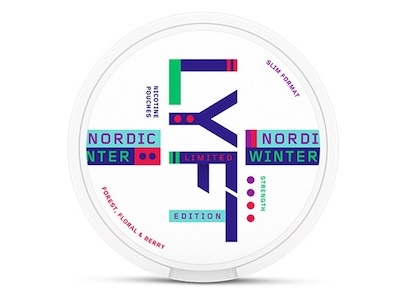 Lyft nordic winter slim all white snus