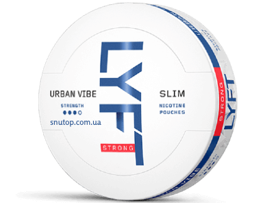 LYFT Urban Vibe Strong All White Portion Snus