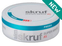Skruf Super White Slim Fresh Strong No.4