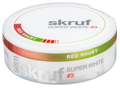 Skruf Super White Slim Red Rhuby 3
