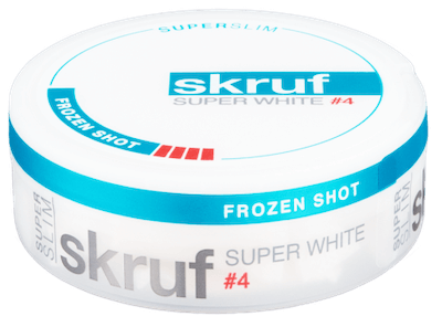 Skruf Super White Super Slim Frozen Shot No.4