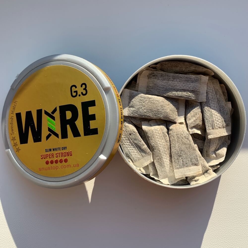 Снюс g3 Wire white dry super strong